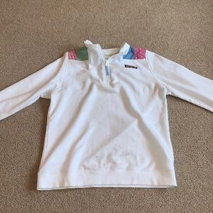 Vineyard Vines Girls Shep Shirt Quarter Zip
